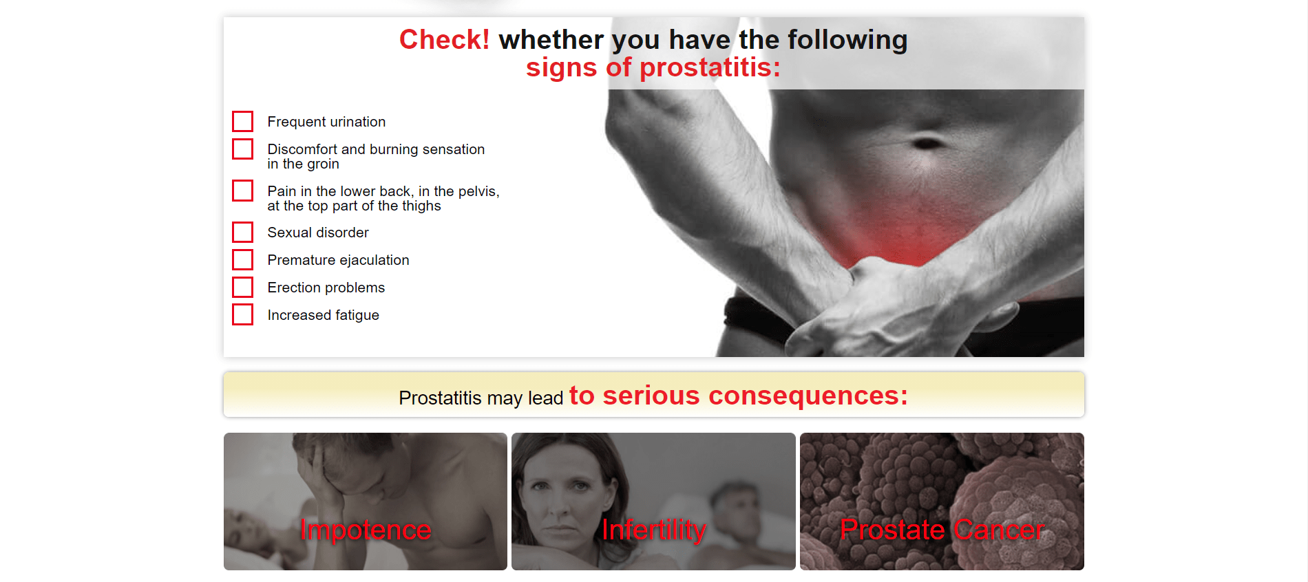 erecron a prostatitis